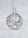 lustre boule, métal environ 50 cm de diamètre